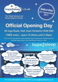 Announcement of our Official Open Day - Sleep Apnoea Awareness + Support Event