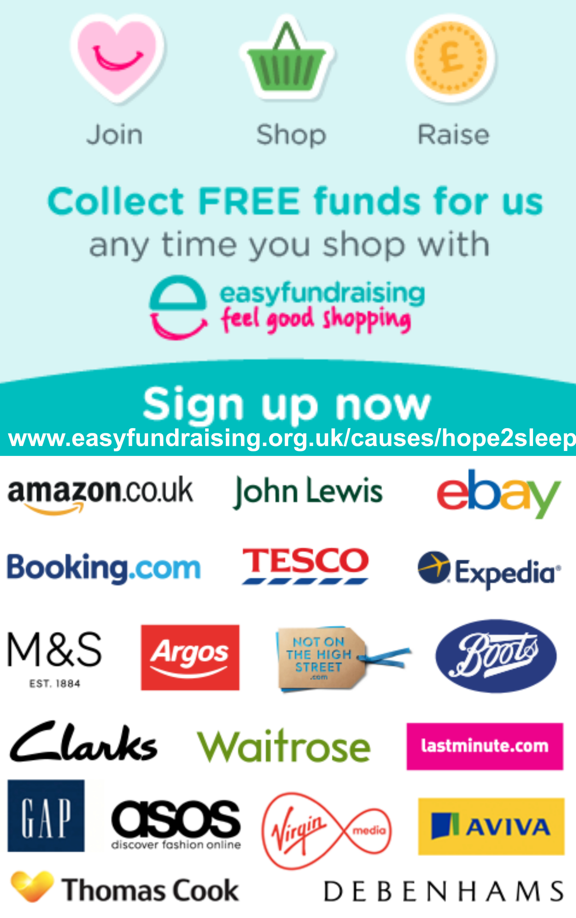 https://www.easyfundraising.org.uk/causes/hope2sleep/