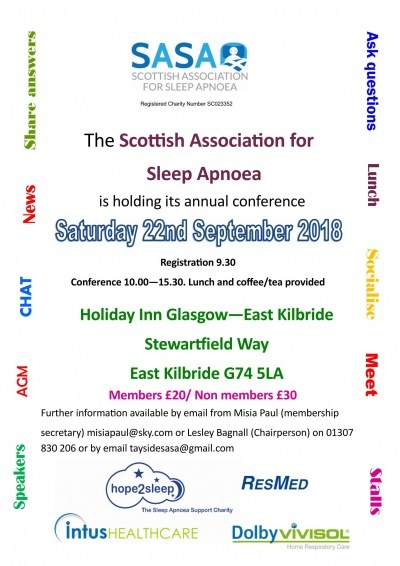 Scottish Association for Sleep Apnoea (SASA) Conference