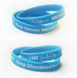 Medical Alert Wristband for Sleep Apnoea + Sleep Disordered Breathing