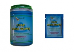 CPAP BiPAP + Oxygen Mask + Equipment Cleaning Wipes - Citrus II
