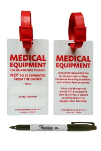 CPAP + Ventilator Luggage Tag